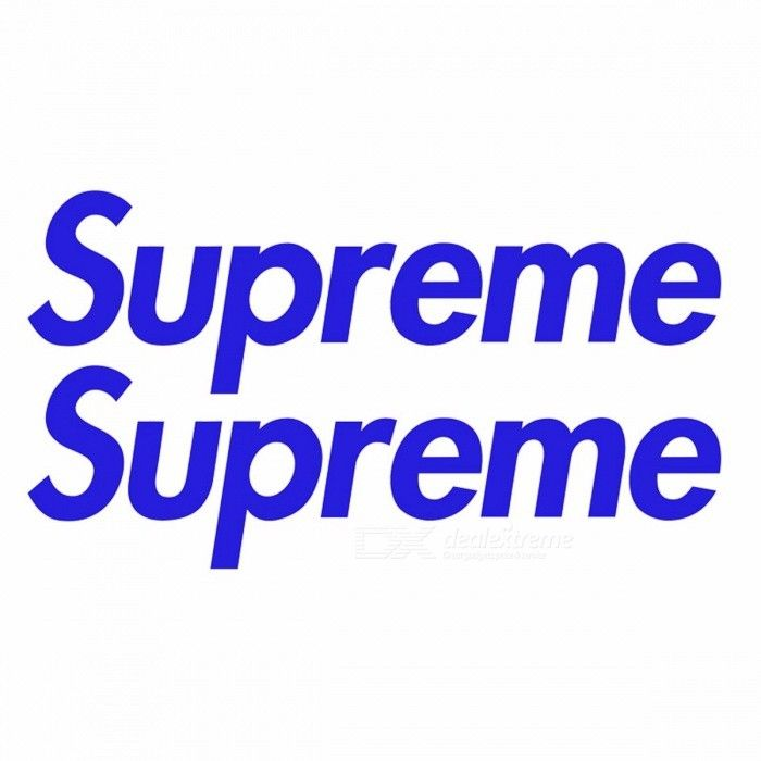 Skateboard Clothing Brands Logo - 2PCS Fashion Brands Logo Supreme Skateboard Graffiti Waterproof Car ...