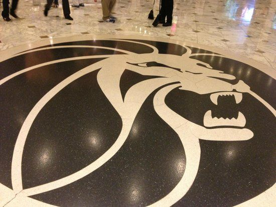 MGM Grand Logo - Floor logo in lobby - Picture of MGM Grand Hotel and Casino, Las ...