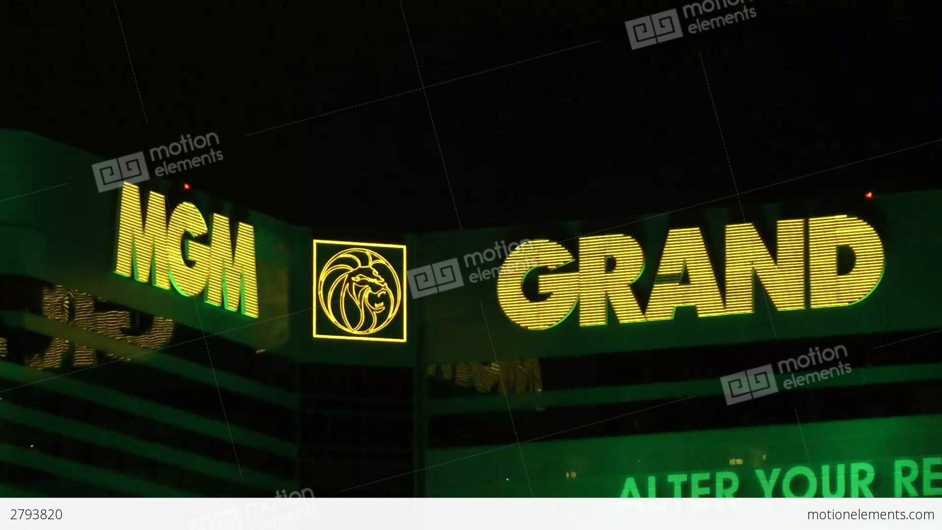 MGM Grand Logo - LAS VEGAS - CIRCA 2014: The MGM Grand Hotel & Casi Stock video ...
