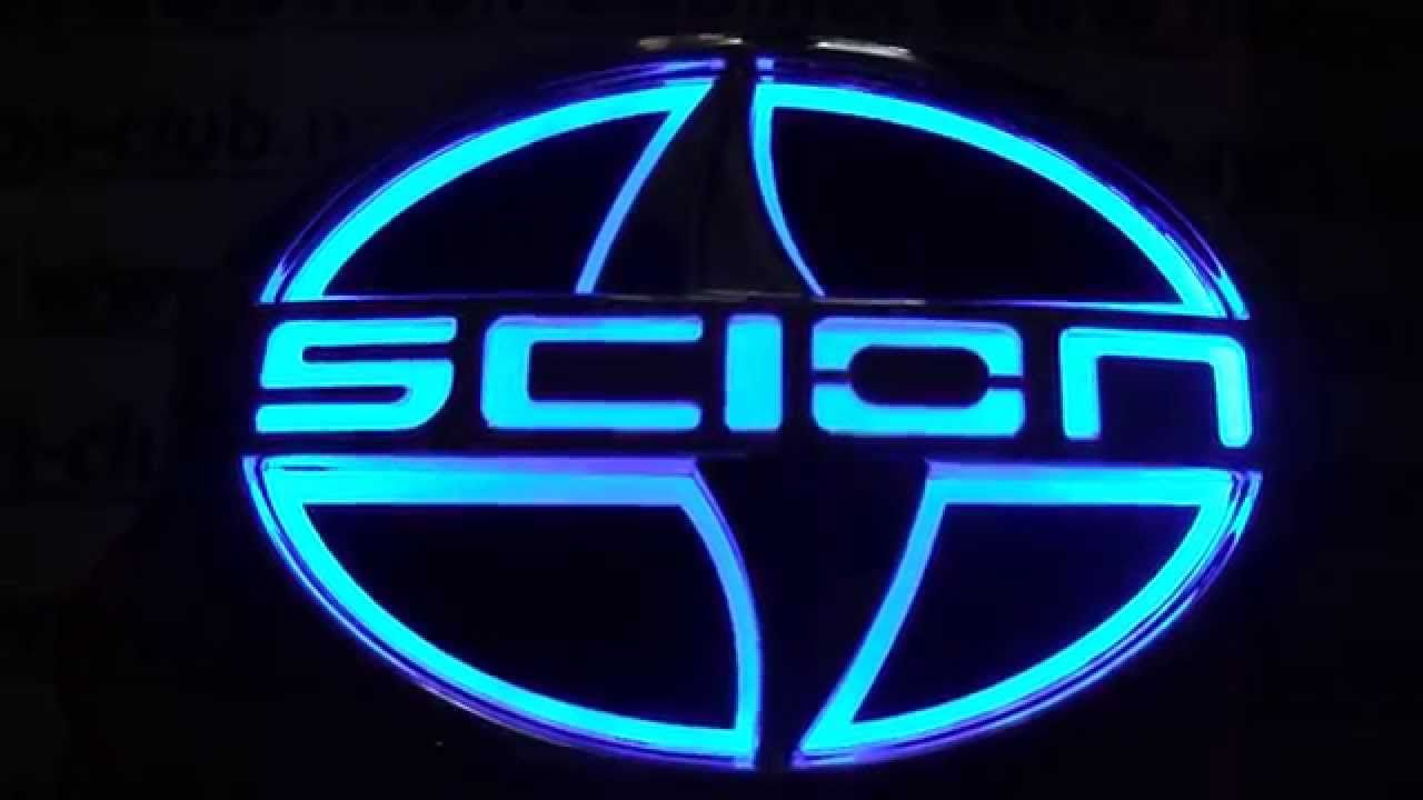 Scion Logo - Car Badge 5D emblem light Scion car badge, logo sticker 5D - BLUE ...