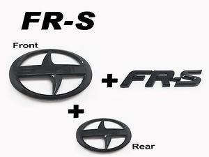 Scion Logo - Front + Rear + FRS Trunk Badge Emblem Logo glossy Black For Scion ...