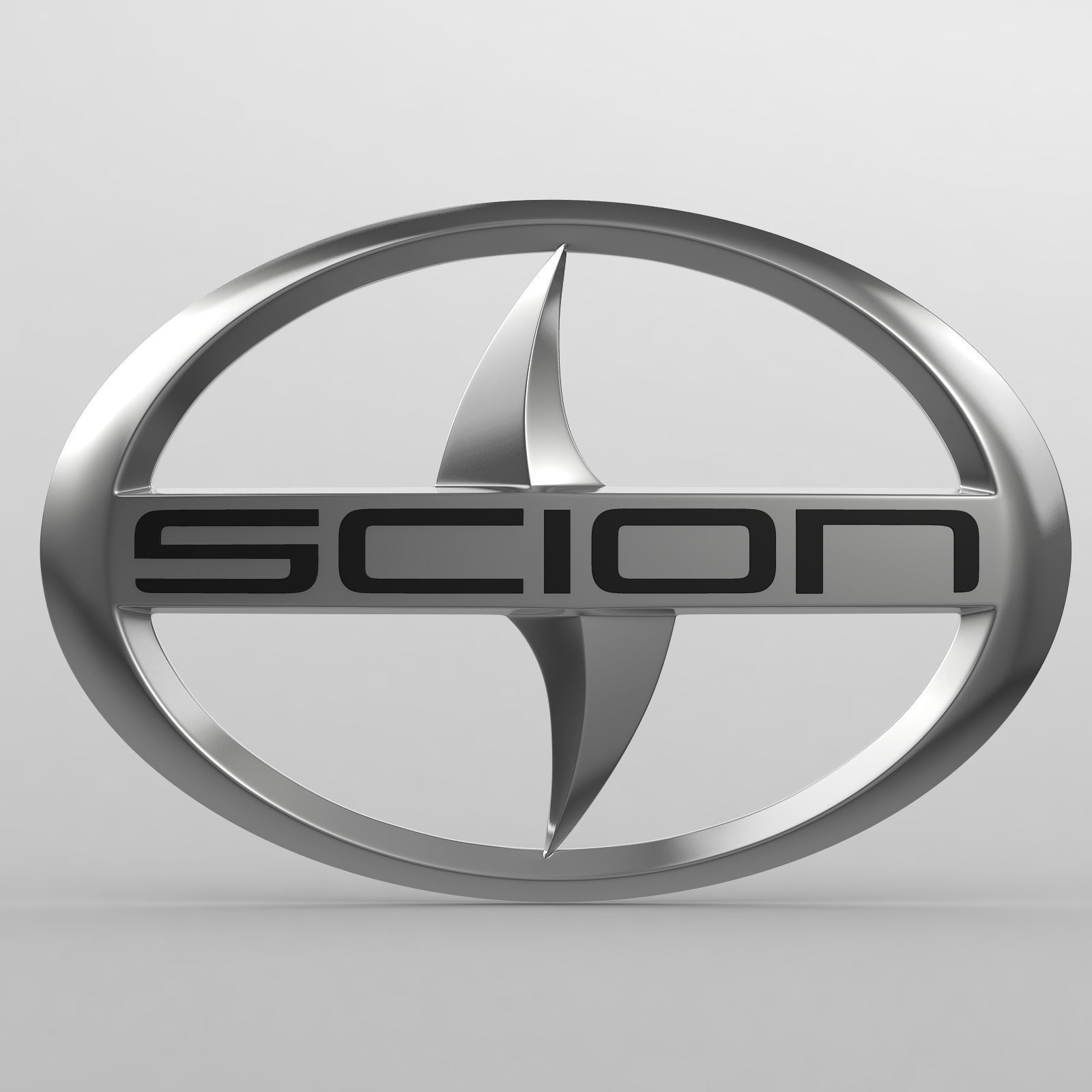 Scion Logo - scion logo high 3D model | CGTrader