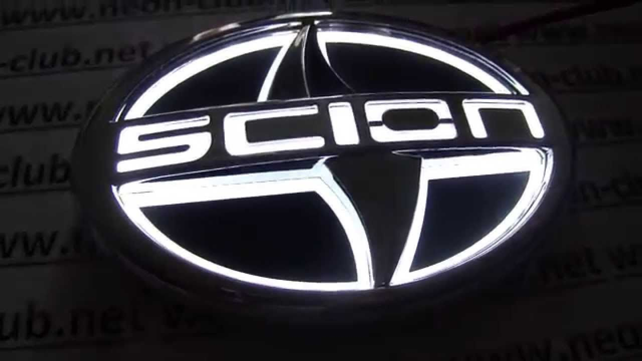 Scion Logo - Car Badge 5D emblem light Scion car badge, logo sticker 5D - WHITE ...