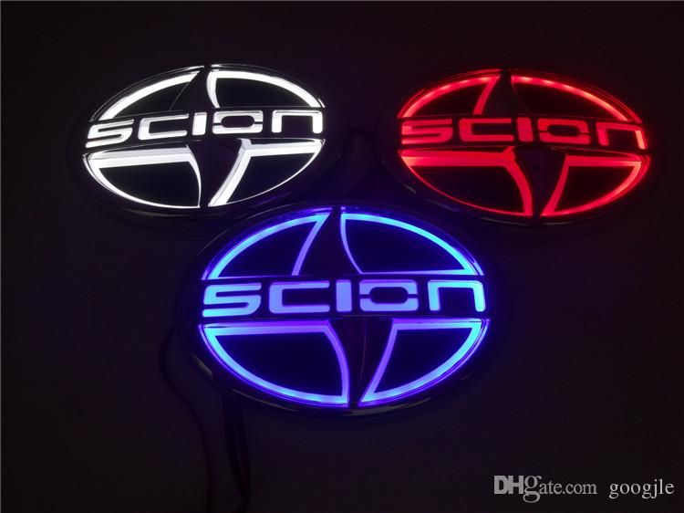 Scion Logo - Car Styling 5D Auto Badge Lamp Special Modified Car Scion Logo With ...