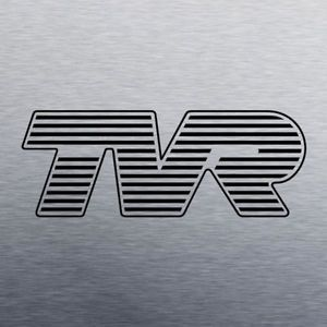 TVR Logo - TVR logo vinyl decal - sized as per original badge - matt black ...