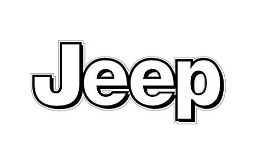 Jeep Logo - Amazon.com: BOLDERGRAPHX 1063 Jeep Logo white with Black border 2 ...