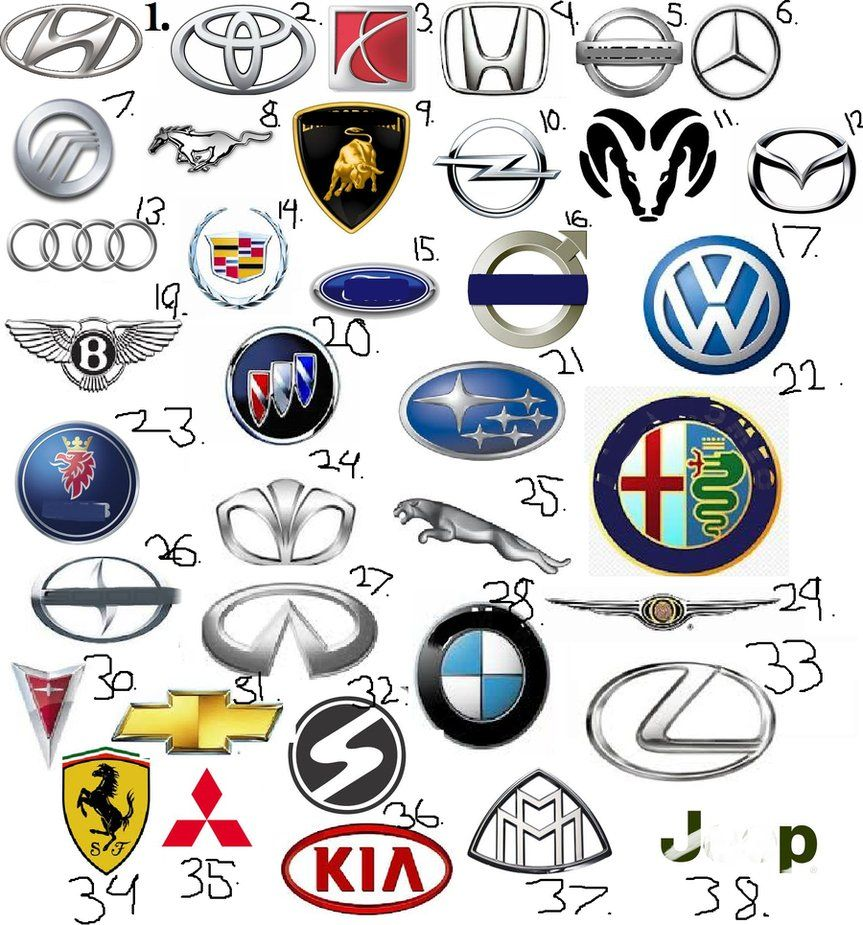 Blue and Silver Car Logo - Sports Car Logos | Cars Show Logos