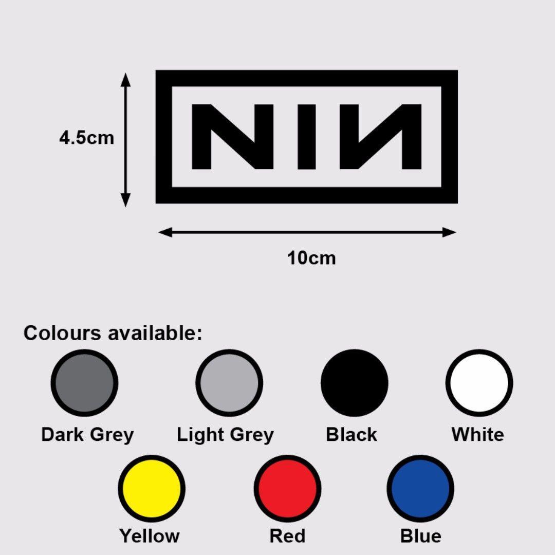 NIN Nine Inch Nails Vinyl Decal Sticker