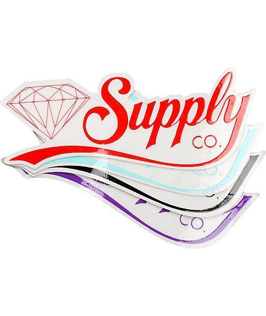 08b5e73163ec Diamond Skate Co Logo - Diamond Supply Co Diamondaire Vinyl Sticker   Zumiez