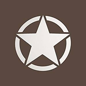 Star Symbol in Circle Logo - Autofy 5 Point Star Circle Tank/Body Sticker Universal for All Bikes ...