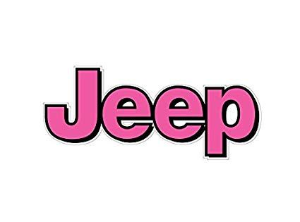 Jeep Logo - Amazon.com: BOLDERGRAPHX 1064 Jeep Logo with pink and black border 2 ...
