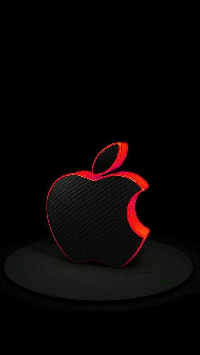 Black And Red Apple Logo Logodix