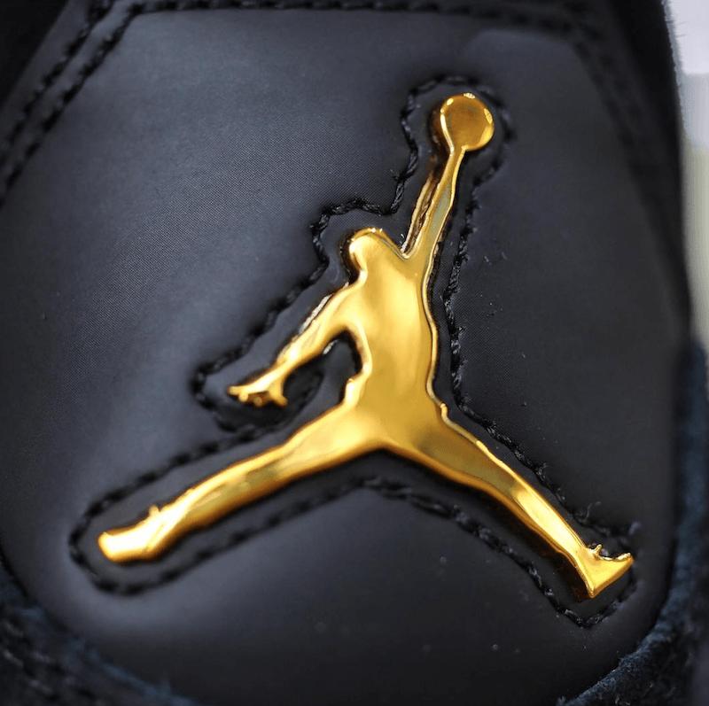 1b450d6f4ee Golden Jordan Logo - Air Jordan 4 Royalty Black Gold Release Date - Sneaker  Bar Detroit