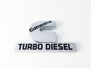 2 2006-2012 Black //White For Dodge Ram Cummin Turbo Diesel High Output Emblems