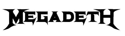 Megadeth Logo - The Megadeth logo uses jagged edges and expanding and contracting ...