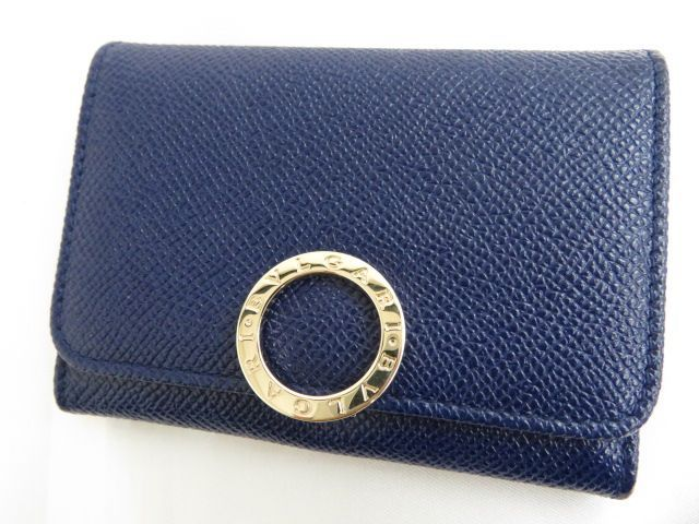 Bvlgari Logo - green0501: With leather card case / pass case blue box with BVLGARI ...