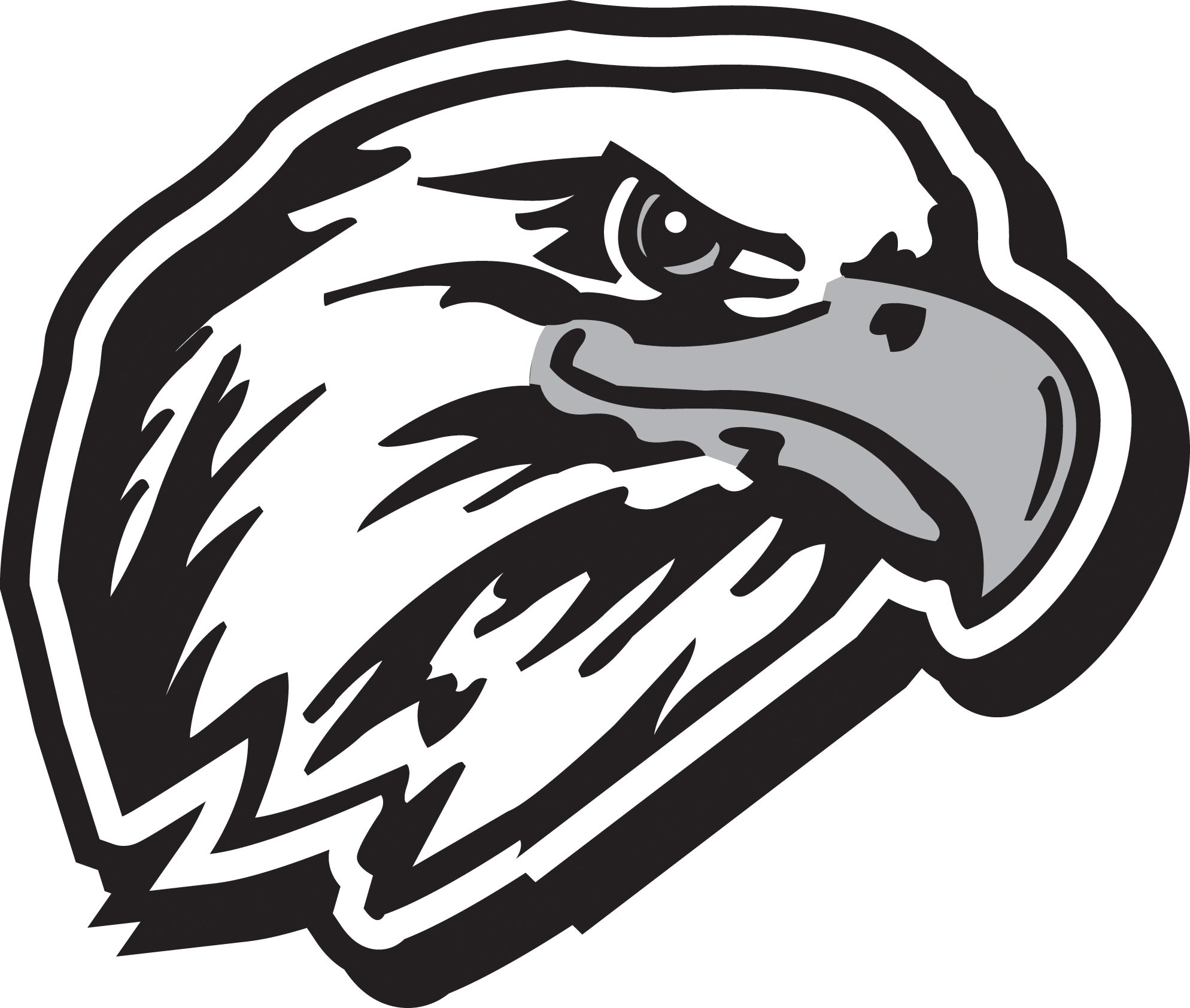 Black and White Eagle Football Logo - LogoDix