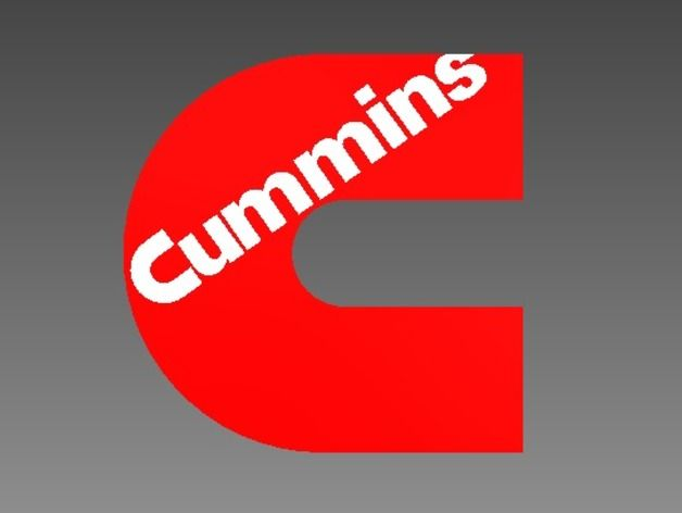 Cummins Logo - Cummins Logo by cpester1997 - Thingiverse