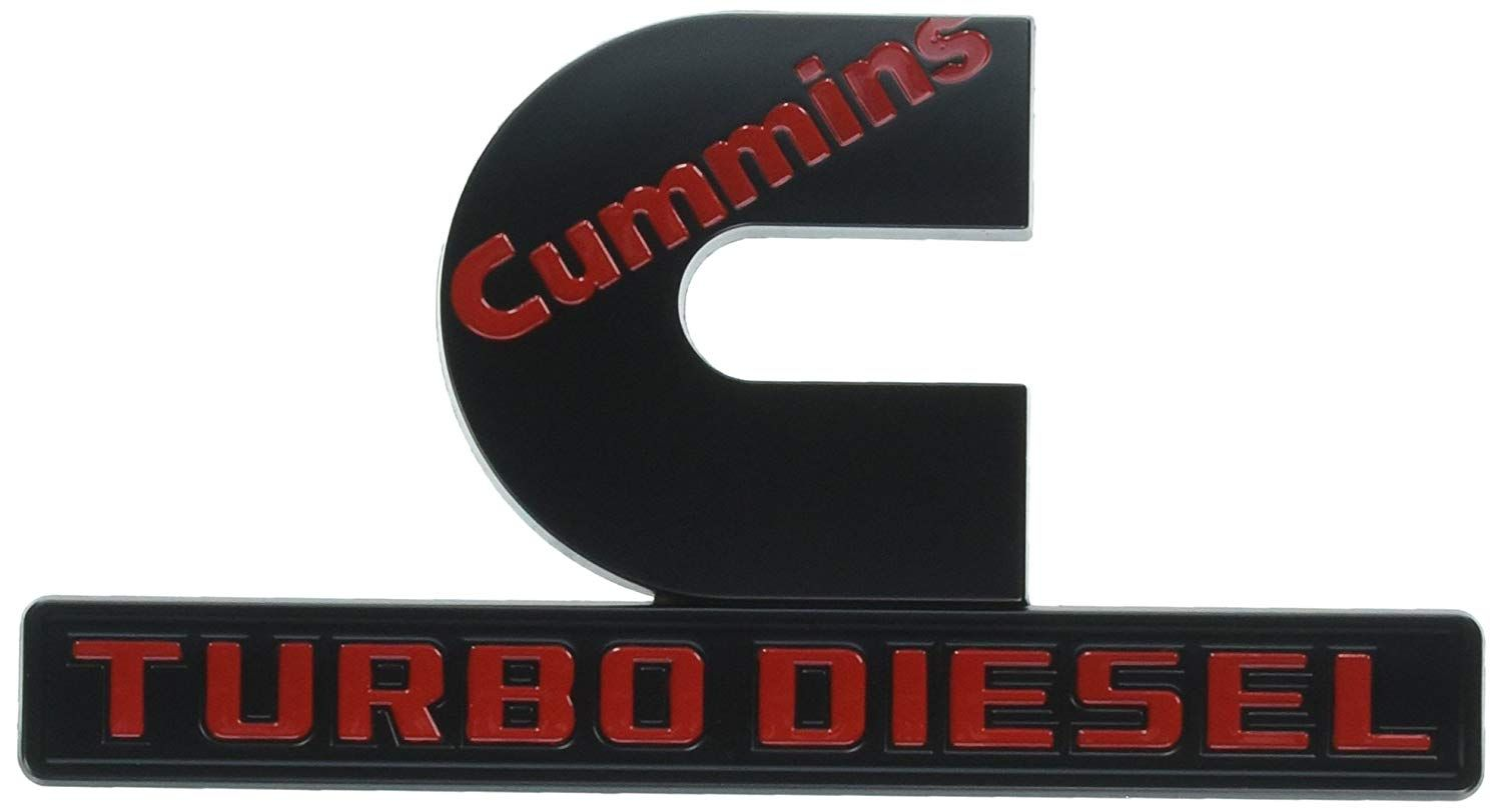 Cummins Logo - Amazon.com: Yoaoo 2x OEM Black Cummins Turbo Diesel Emblem Badges ...