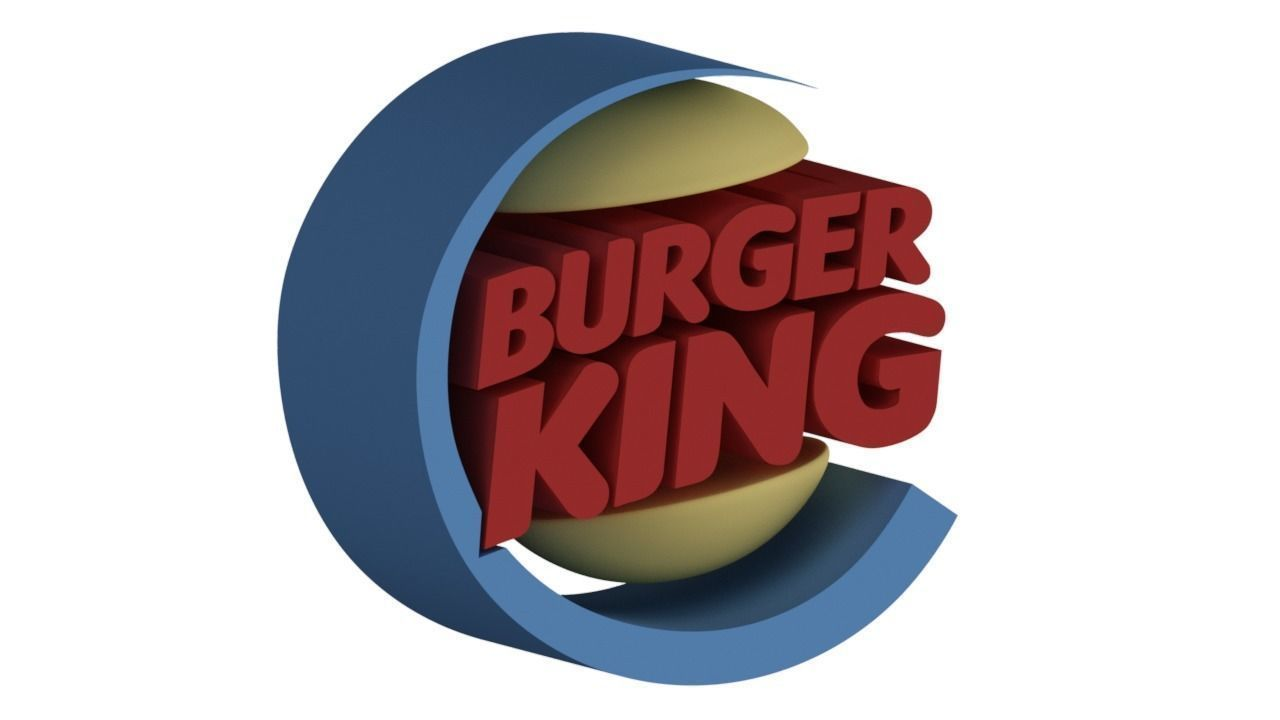 Burger King Logo - 3D model Burger King Logo burgerking | CGTrader