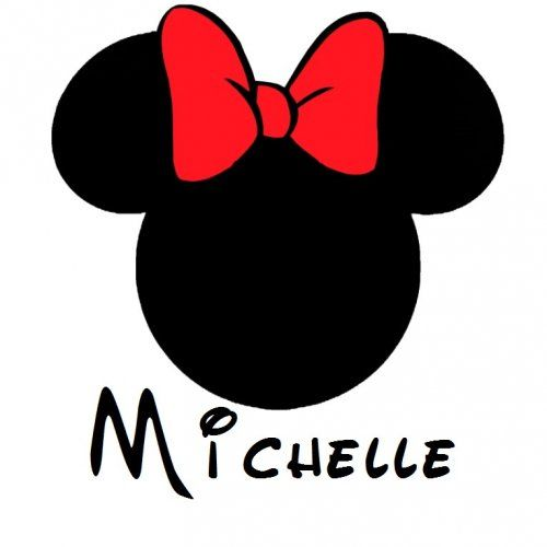 Minnie Mouse Logo - minnie mouse logo | Custom Personalized Minnie Mouse Iron On ...