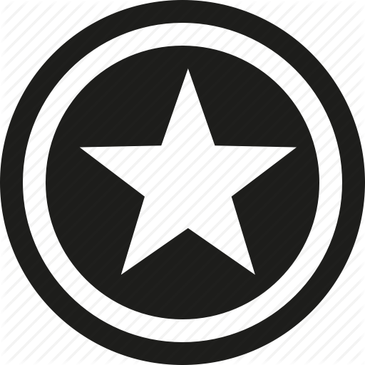 Star Symbol in Circle Logo - Back circle star icon #19133 - Free Icons and PNG Backgrounds