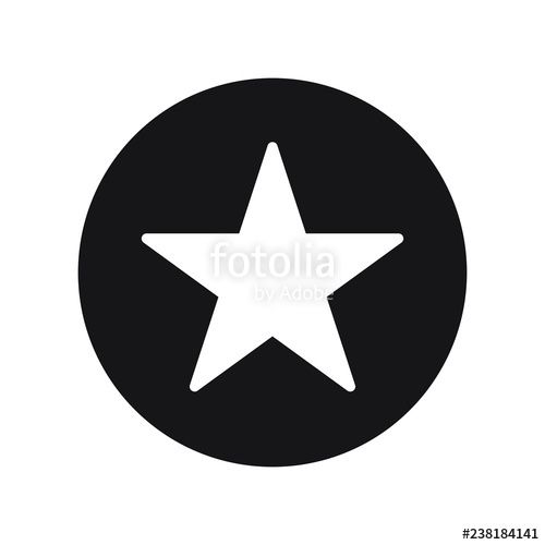 Star Symbol in Circle Logo - Star in circle icon. Flat vector illustration in black on white ...