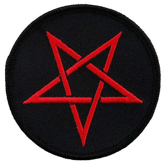 Star Symbol in Circle Logo - Amazon.com: Red Pentagram Star Embroidered Patch Iron-On Evil ...