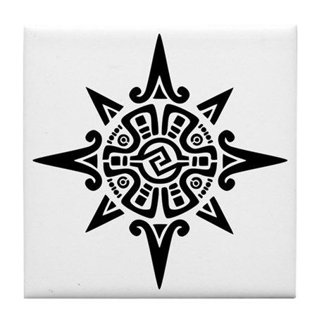 Star Symbol in Circle Logo - 8-Point Incan Star Symbol Tile Coaster by symbology