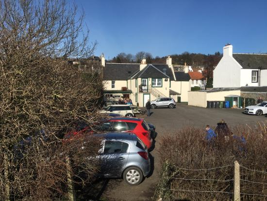 Red Lion Car Logo - Car park and back of Inn - Picture of The Red Lion Inn, Culross ...