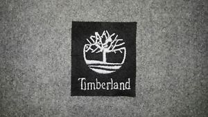 Timberland Logo - Timberland Logo Embroidery White Sew on Label Patch Cap T Shirt ...