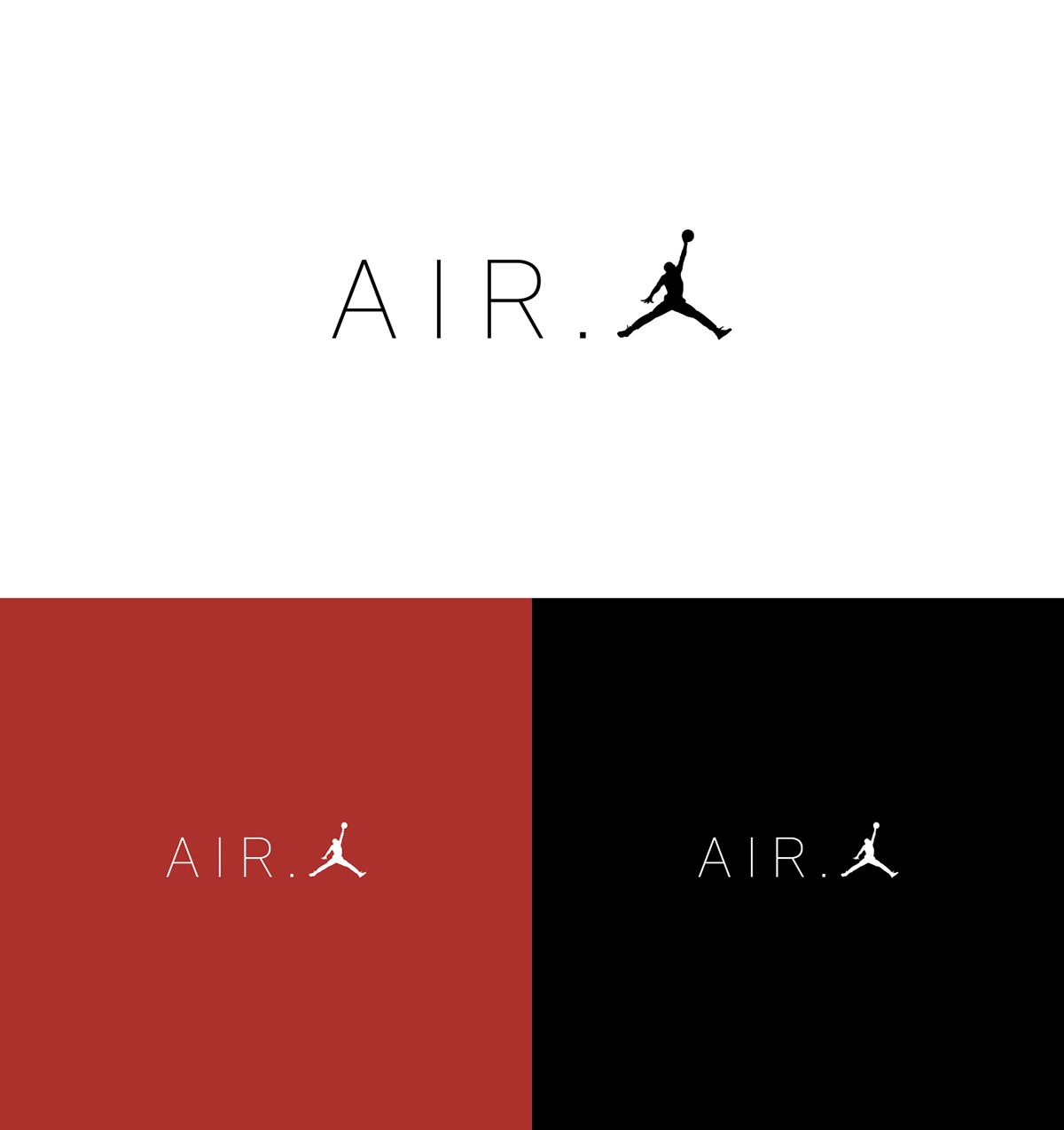 Air Jordan Logo - AIR.JORDAN logo design on Student Show