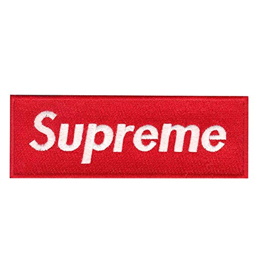 Supreme Logo - Red Supreme Box Logo DIY Iron On Embroidered Applique Patch: Amazon ...