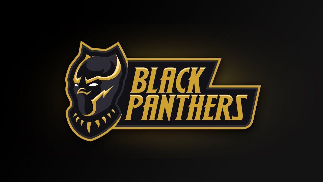 Gold and Black Panther Logo - LogoDix