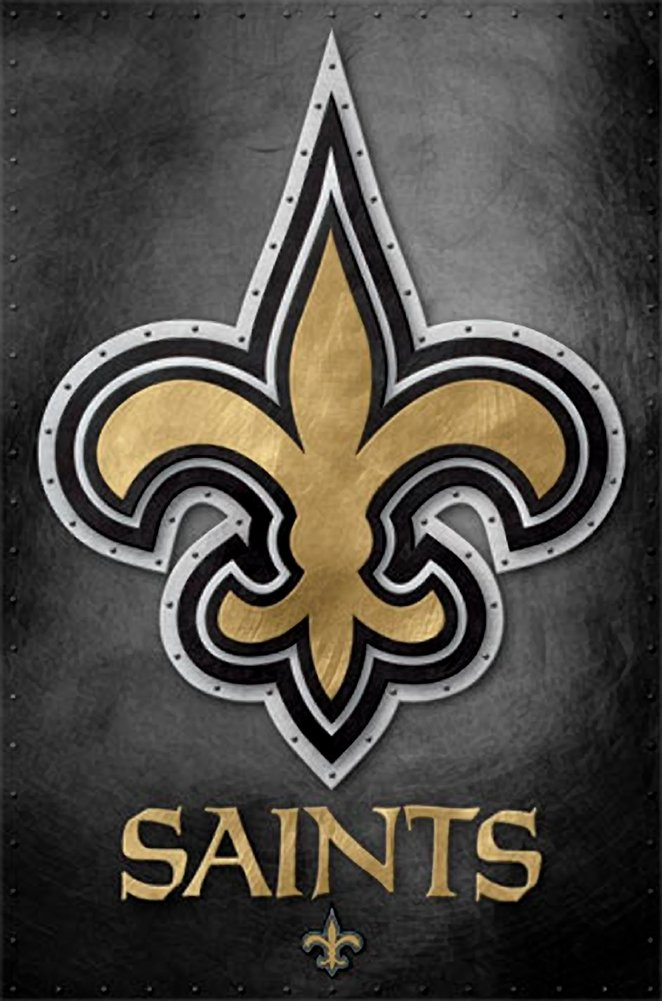 New Orleans Saints Logo - New Orleans Saints Logo 13 Wall Poster