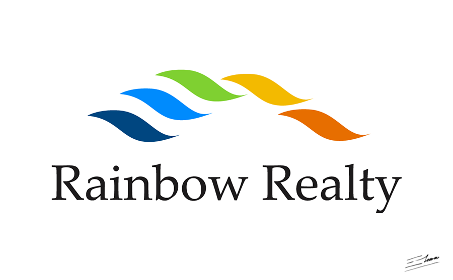 Business Communication Logo - Rainbow Realty design: corporate logo and business communication