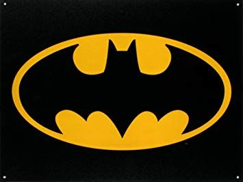 Batman Logo - Amazon.com: Batman Logo Tin Sign, 16x12: Batman Logo Poster: Posters ...