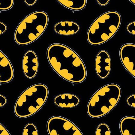 Batman Logo - Batman Logo 100% Cotton Fabric by the Yard For Quilting And Crafting ...