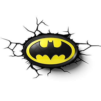 Batman Logo - Amazon.com: 3DLightFX Warner Bros DC Comics Batman Emblem Logo 3D ...