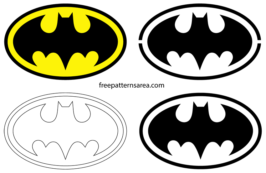 Batman Logo - Batman Logo Symbol and Silhouette Stencil Vector | FreePatternsArea