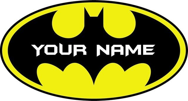 Batman Logo - Personalised BATMAN LOGO Decal Removable WALL STICKER Home Decor Art ...