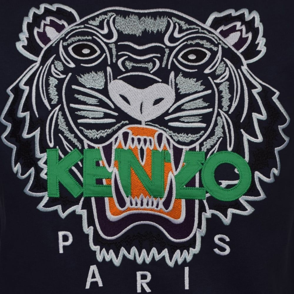 Kenzo Logo - KENZO Kenzo Navy Tiger Logo Sweatshirt - Men from Brother2Brother UK