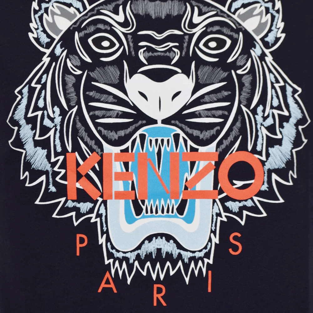 Kenzo Logo - KENZO Kenzo Navy/Orange Tiger Logo T-Shirt - Men from Brother2Brother UK