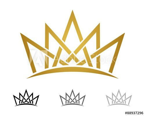 Yellow Gold Crown Logo - Gold Crown Logo Template v.3 - Buy this stock vector and explore ...
