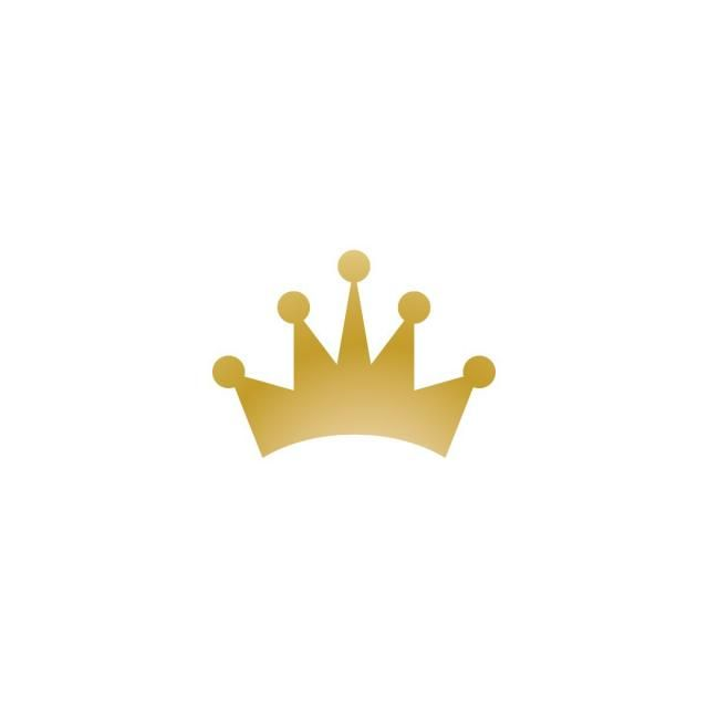 Yellow Gold Crown Logo - Gold Crown Logo Icon Element, Abstract, Background, Beauty PNG and ...