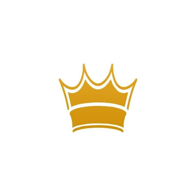 Yellow Gold Crown Logo - Golden Crown Template Vector, Yellow, Gold, Crown PNG and Vector for ...