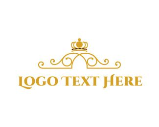Yellow Gold Crown Logo - Logo Maker - Customize this