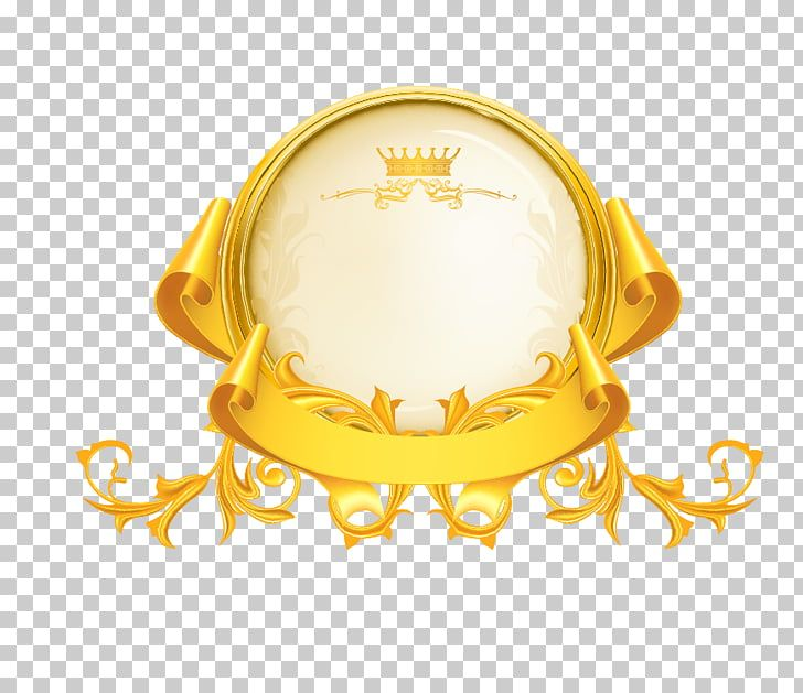 Yellow Gold Crown Logo - Gold Icon, Gold, round beige and gold with crown logo illustration ...
