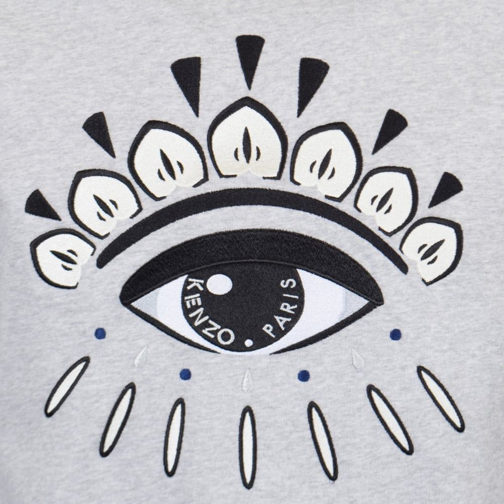 Kenzo Logo - KENZO Kenzo Light Grey Eye Logo Sweatshirt - Men from Brother2Brother UK