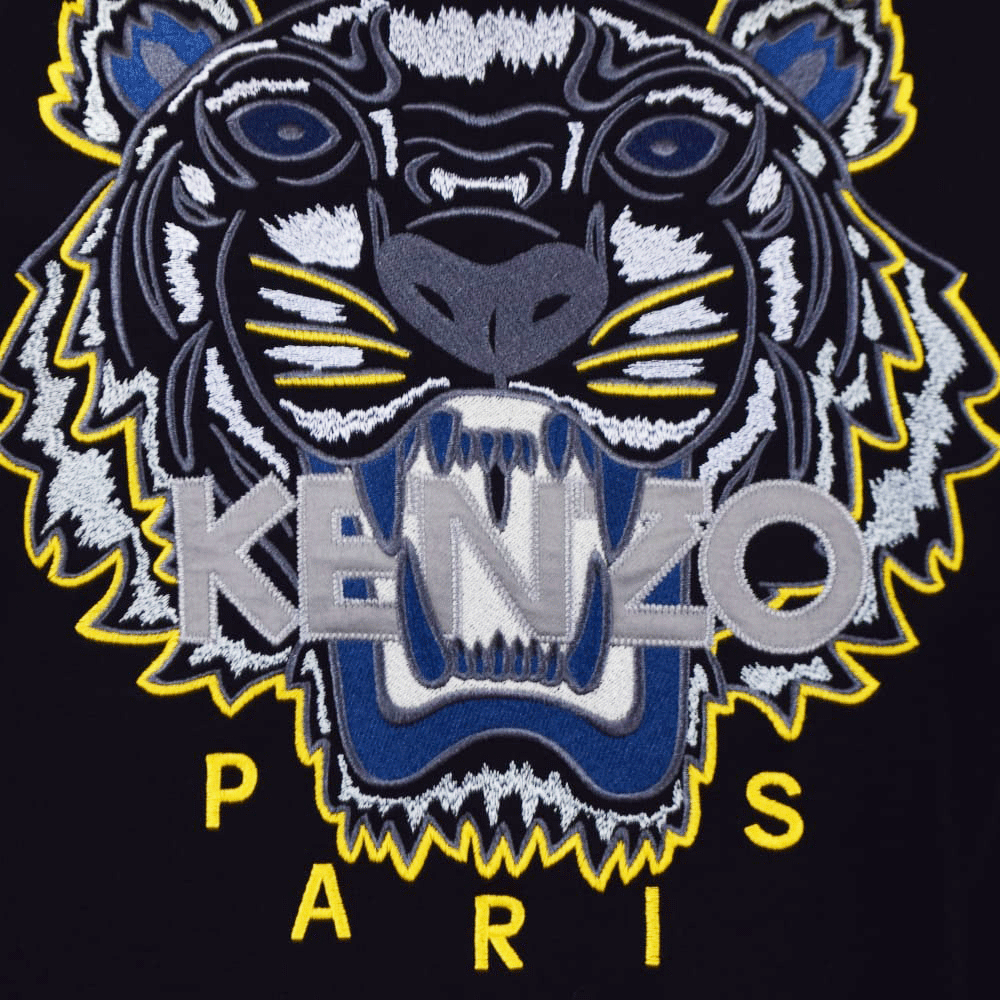 Kenzo Logo - KENZO Kenzo Black/Yellow Tiger Logo Sweatshirt - Men from ...